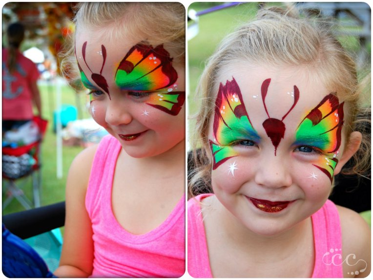 rainbow butterfly collage