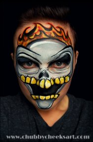 1-14 Flame Skull inspired by Tanya Maslova with link