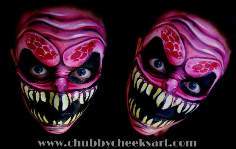 collage of demon darkened a bit with link